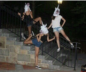 unicorn, friends, and grunge image
