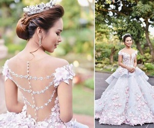 ball gowns, dress, and beauty image