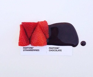 chocolate, pantone, and strawberry image