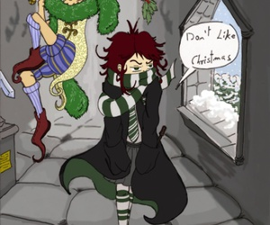 harry potter, slytherin, and peeves image