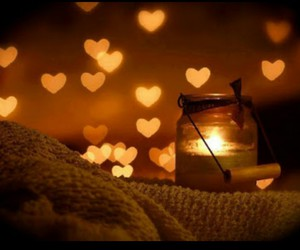 candle, light, and hearts image