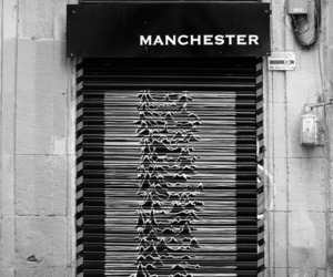 black and white, joy division, and manchester image