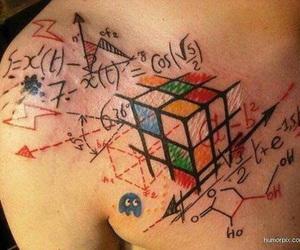 tattoo, math, and tatoo image