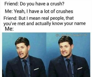 crush, supernatural, and funny image