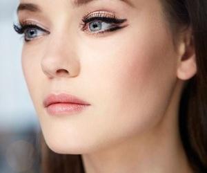 makeup, model, and eyeliner image