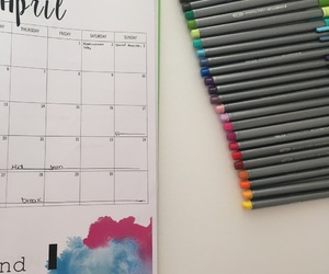april, colors, and organization image