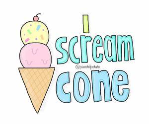 draw, ice cream, and overlay image