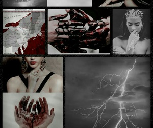 book, lightning, and red image