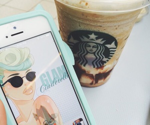 starbucks, iphone, and wallpaper image