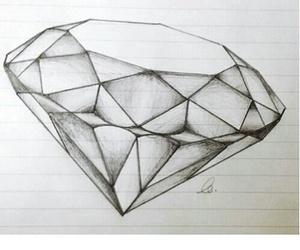 draw, art, and diamond image
