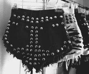 fashion, shorts, and black and white image
