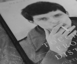 b&w, black and white, and ian curtis image