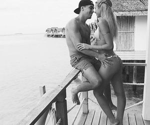 lovely, black+and+white, and couplegoals image