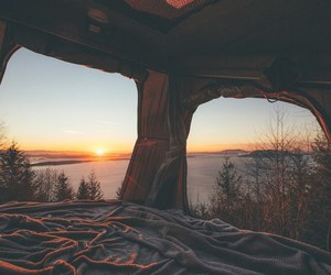 nature, travel, and sunset image