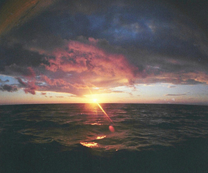 sunset, sea, and sun image