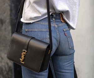 bag, outfit, and black image