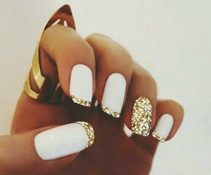 nails, sparkly, and love image