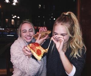 pizza, girl, and tumblr image