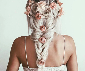 blond, braid, and fashion image