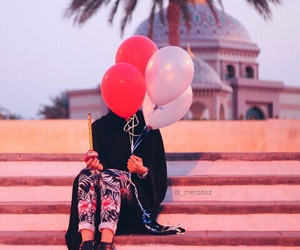 balloons, muslim, and colours image