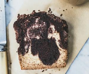 chocolate, vanilla, and crumb cake image