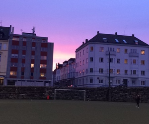 football, house, and sunset image
