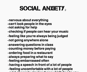 anxiety, shy, and social image