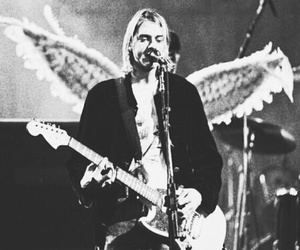 nirvana, kurt cobain, and angel image
