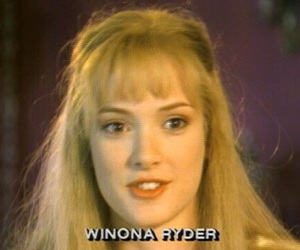 winona ryder, 90s, and beauty image