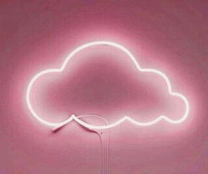pink, clouds, and neon image