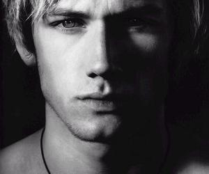 alex pettyfer, black and white, and boy image