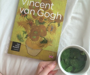 artist, tea time, and book image