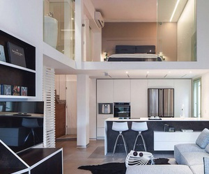 home, mezzanine, and modern image