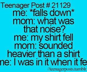 funny, teenager post, and mom image