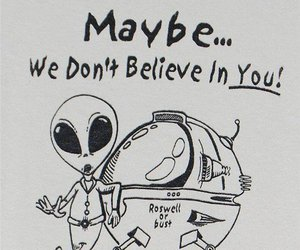 alien, funny, and believe image