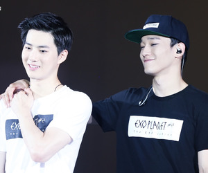 Chen, exo, and junmyeon image