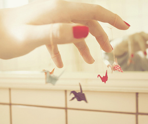 origami, photography, and hand image