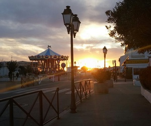 carrousel, france, and santa monica image