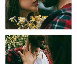 collection, flowers, and kiss image