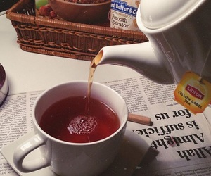 drink, tea, and red tea image