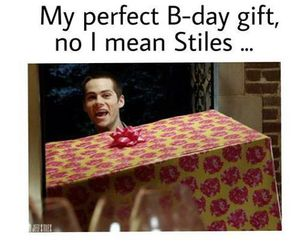 teen wolf, stiles, and gift image