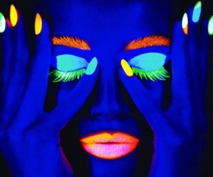 neon, nails, and makeup image