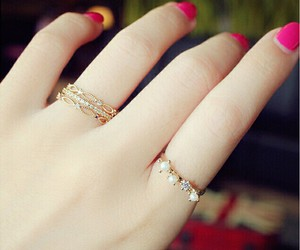 girls rings, beautiful rings, and new ring image