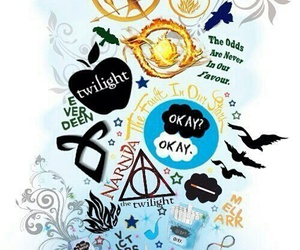 book, twilight, and harry potter image
