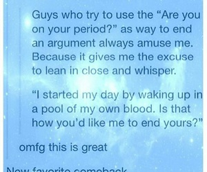 funny, period, and PMS image