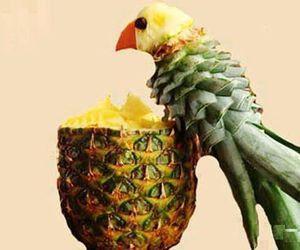 pineapple, food, and bird image