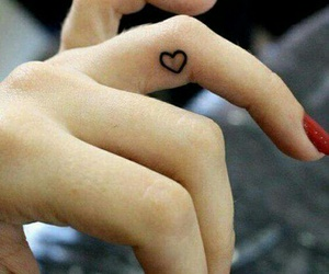 heart, tattoo, and small tattoo image