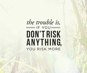 quote, risk, and life image
