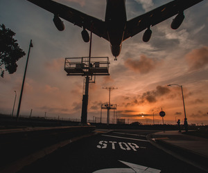 airport, wanderlust, and plane image