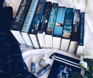 book, blue, and harry potter image